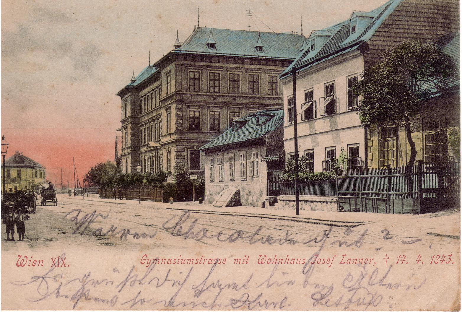Gymnasiumstrasse 1900 Farbe